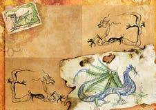 Folha de papel antiquíssima ilustração stock