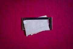 Folha de papel branca para notas Imagem de Stock Royalty Free