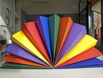 Folha de papel colorida ilustração stock