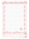 Folha de papel com fundo floral Imagens de Stock Royalty Free
