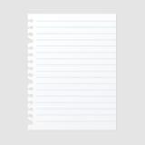 Folha de papel da nota para a ilustração do vetor da mensagem Fotografia de Stock