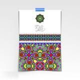 Folha de papel decorativa com floral oriental Imagens de Stock
