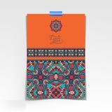 Folha de papel decorativa com floral oriental Imagens de Stock Royalty Free