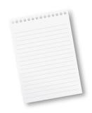 Folha de papel do caderno imagem de stock