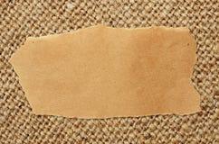 Folha de papel do ofício na lona imagens de stock