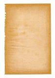 Folha de papel envelhecida Fotos de Stock Royalty Free
