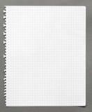 Folha de papel esquadrada Fotos de Stock