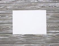 Folha de papel limpa imagem de stock