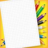 Folha de papel para entradas Imagem de Stock