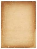 Folha de papel velha Fotografia de Stock Royalty Free
