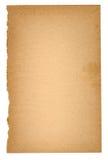 Folha de papel velha Foto de Stock Royalty Free
