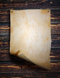 Folha de papel velha Fotografia de Stock