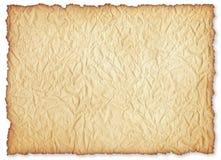 Folha de papel velha enrugado. Imagem de Stock Royalty Free
