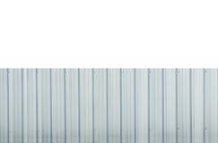 Folha de prata da cerca do metal isolada no fundo branco Fotos de Stock
