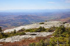 Folha de queda de Vermont, montagem Mansfield, Vermont fotos de stock royalty free