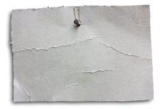Folha de suspensão do cartão - trajeto de grampeamento Imagens de Stock Royalty Free