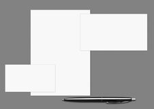 Folha de três brancos Fotografia de Stock