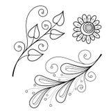 Folha decorativa com ornamento Fotos de Stock