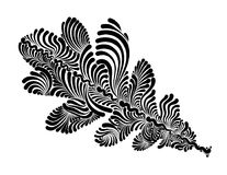 Folha decorativa do carvalho Fotografia de Stock