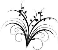 Folha decorativa preta Fotos de Stock