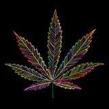 Folha do cannabis, esboço para seu projeto ilustração do vetor