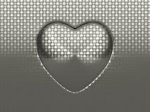Folha do metal escovado com forma circular ilustração do vetor