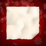 Folha do Natal do papel curvado Eps 10 Foto de Stock Royalty Free