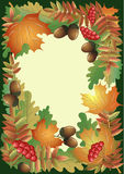 Folha do outono com frutas e bagas Foto de Stock