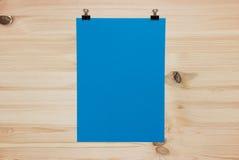 Folha do papel azul Fotografia de Stock