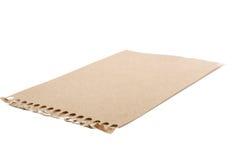 Folha do papel para cartas rasgado marrom Imagem de Stock