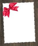 Folha do papel vazio com curva vermelha Fotografia de Stock