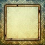 Folha do papel vazio na moldura para retrato Foto de Stock