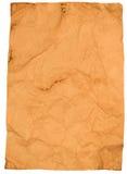 Folha do papel velho amarrotado Fotos de Stock