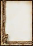 Folha do papel velho com corda Fotografia de Stock