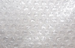 Folha do plástico do invólucro com bolhas de ar Imagens de Stock Royalty Free