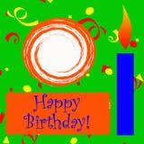 Folha do Scrapbook do feliz aniversario Imagens de Stock