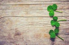 Folha do trevo Dia feliz do ` s de St Patrick imagem de stock royalty free