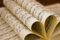 Folha dobrada da contagem da música imagens de stock