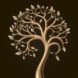 Folha dourada da árvore Foto de Stock Royalty Free
