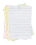 Folha e grampo de papel Foto de Stock Royalty Free