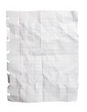 Folha esmagada do papel do bloco de notas Fotos de Stock