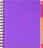 Folha esquadrada violeta do caderno Imagens de Stock Royalty Free