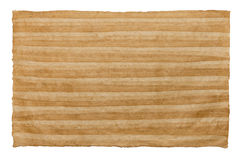 A folha feito a mão do papel listrado no branco isolou o fundo Fotos de Stock Royalty Free