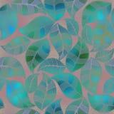 Folha floral abstrata do verde do teste padrão ilustração stock