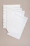 Folha limpa do caderno alinhado Fotos de Stock Royalty Free