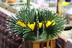 Folha Loy Krayong Fastival da banana fotos de stock