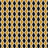 Folha na moda Diamond Stripes Seamless Vetora Pattern ilustração do vetor