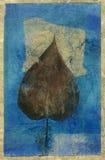 Folha no azul ilustração royalty free