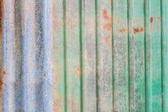 Folha oxidada do zinco Imagens de Stock