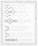 Folha preto e branco em um papel quadrado com exercícios para crianças pequenas Página com as tarefas na adição Fotos de Stock Royalty Free